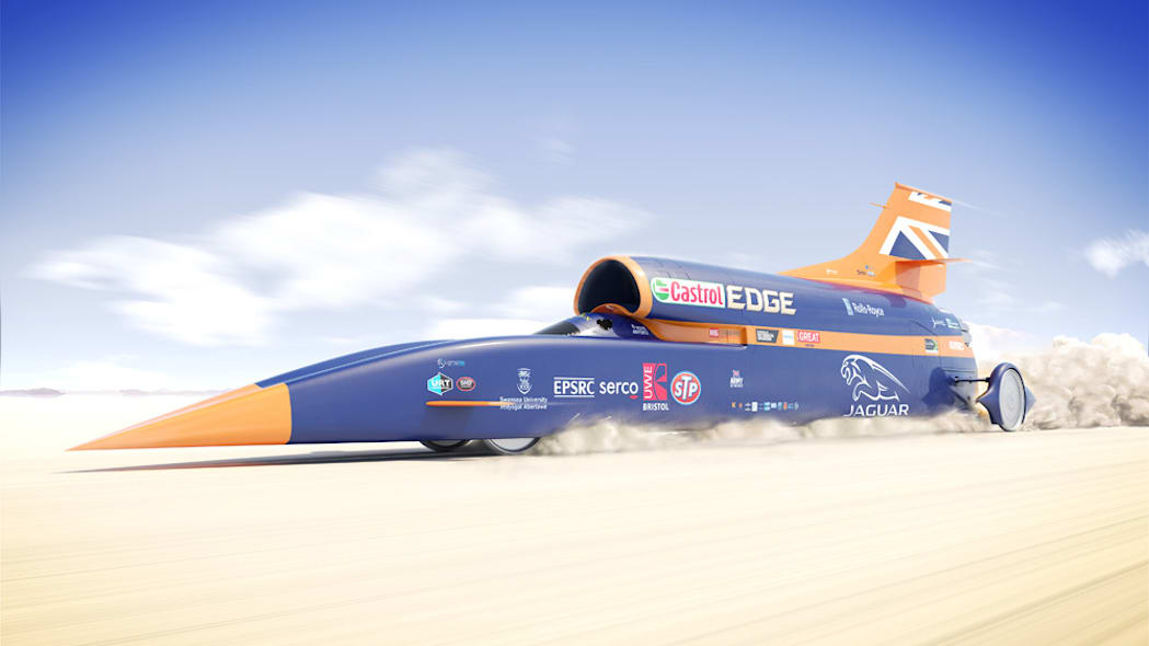 Bloodhound SSC rendering moving