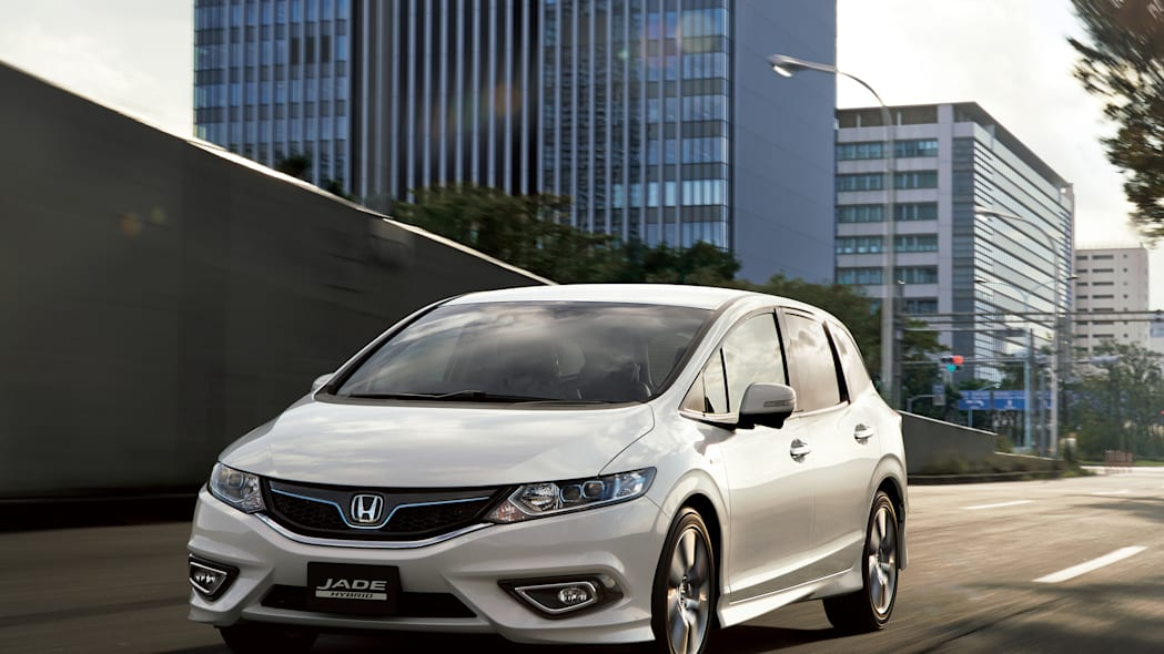 Honda Jade white city street