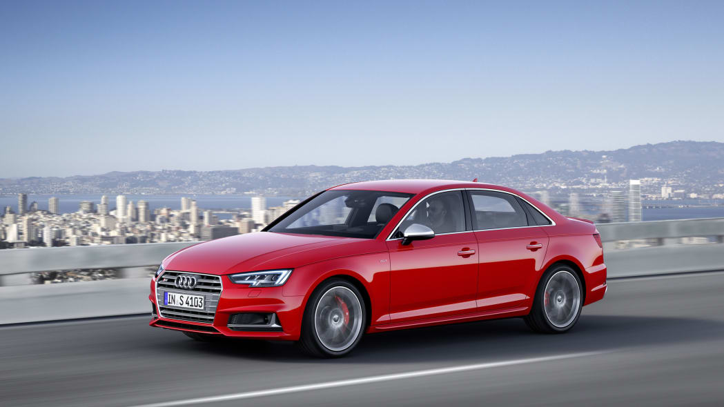 red 2017 audi s4 front three quarters