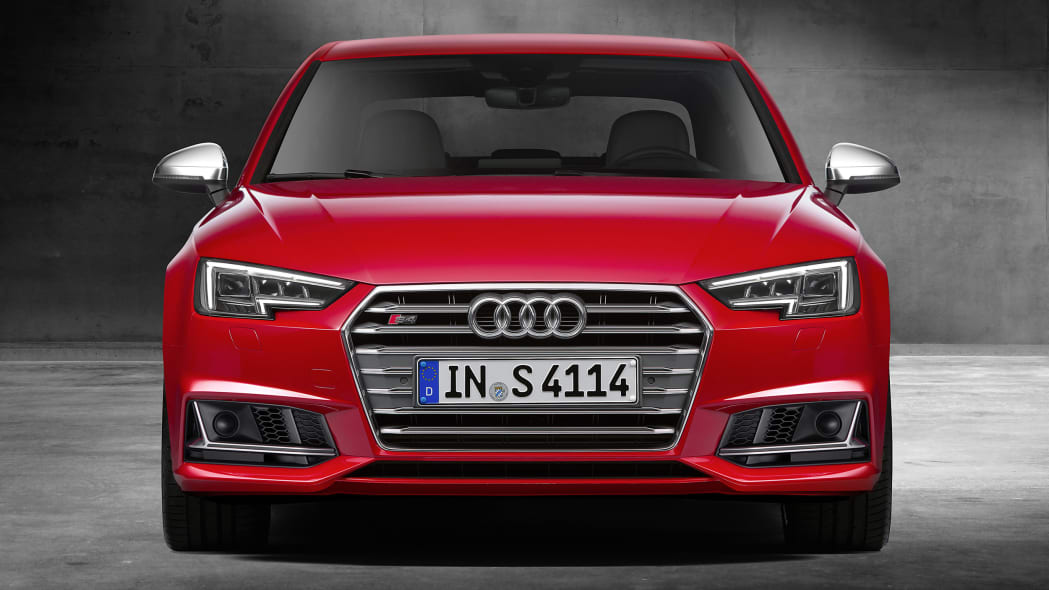 red 2017 audi s4 front close