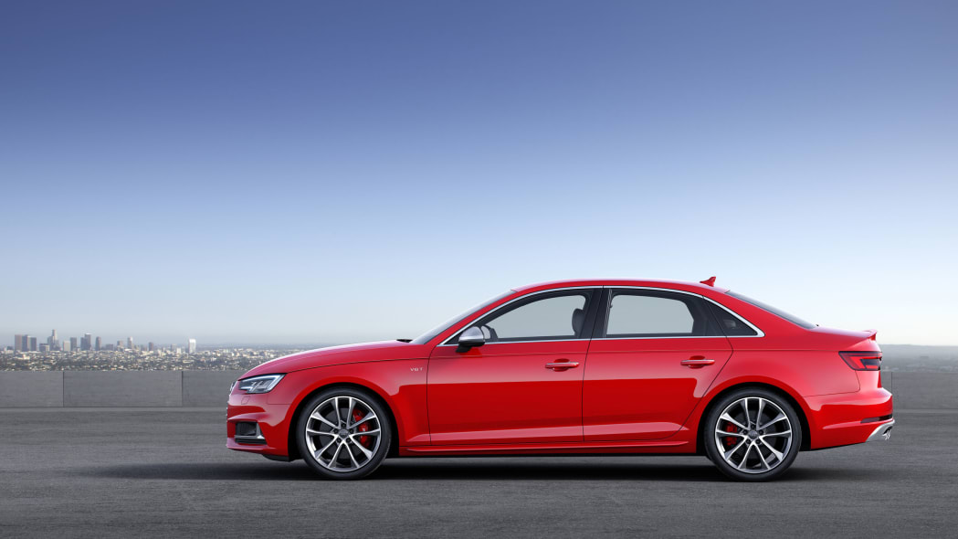 red 2017 audi s4 profile city