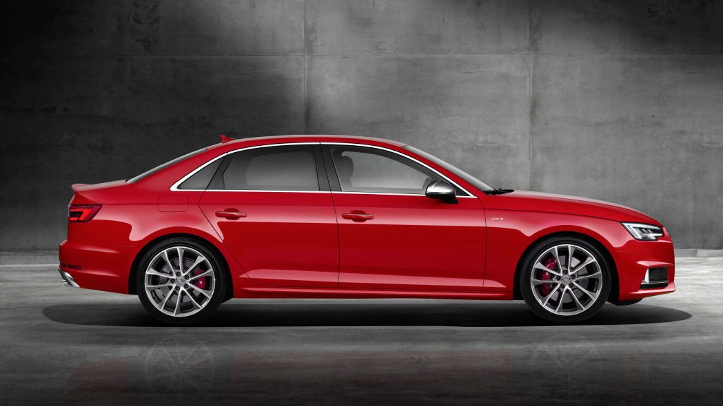 red 2017 audi s4 profile concrete