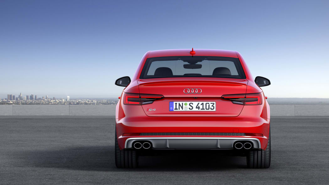red 2017 audi s4 rear city
