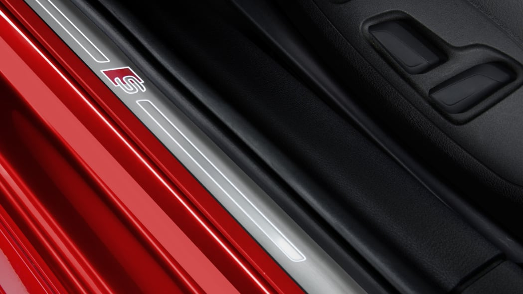 red 2017 audi s4 side sills