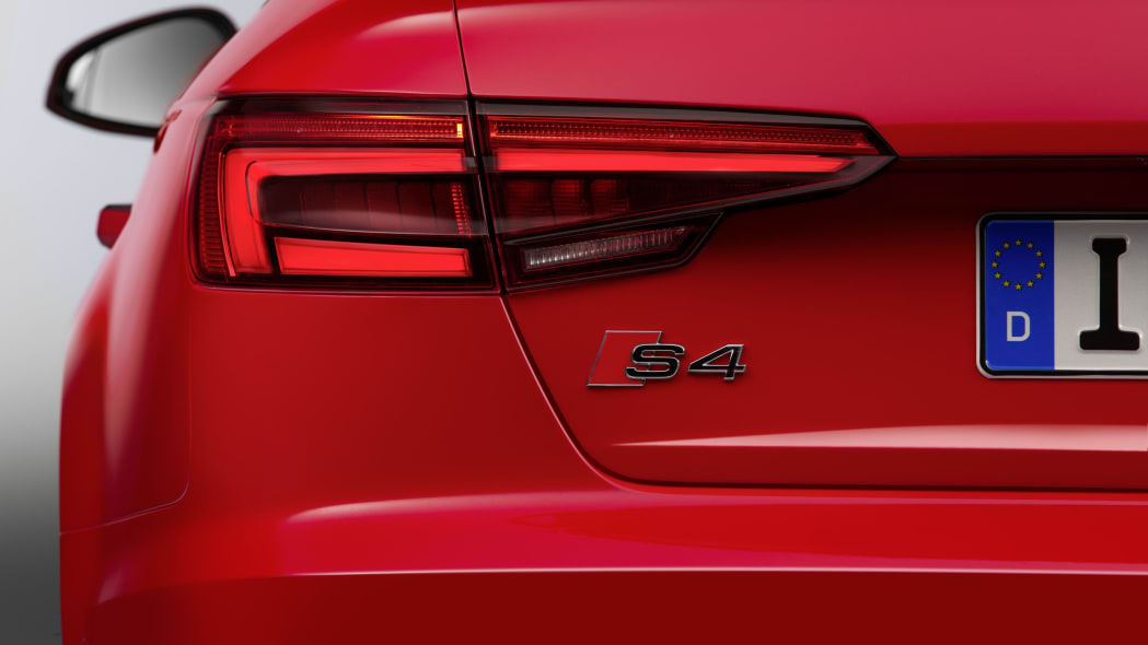 red 2017 audi s4 badge