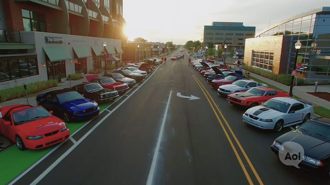 Mustang Alley at Woodward Dream Cruise | Detroit, MI | Car Club USA