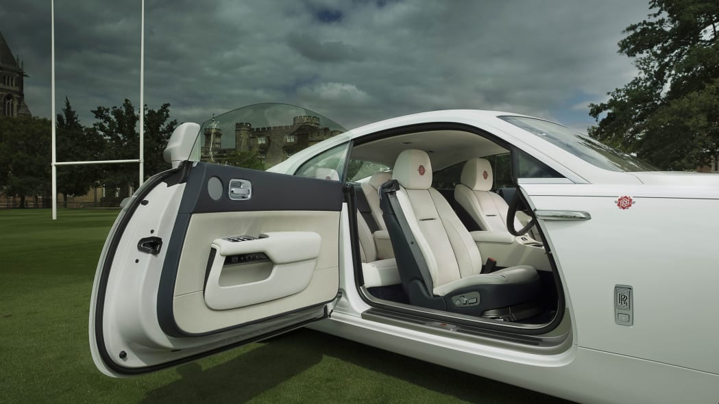 Rolls-Royce Wraith History of Rugby open door interior