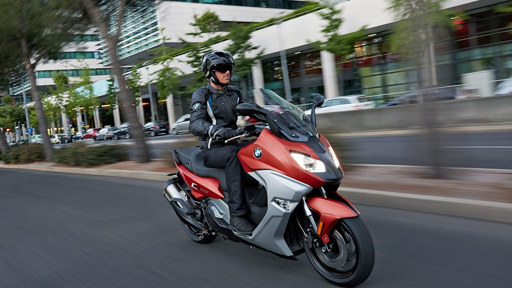 bmw c650 sport in the city