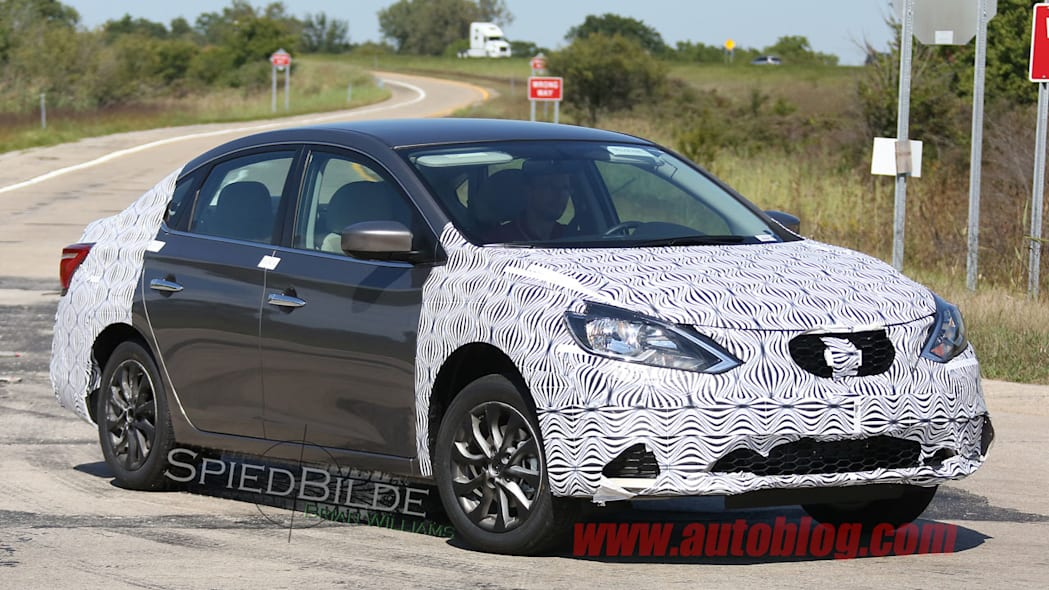 2016 nissan sentra spy shots front camouflage