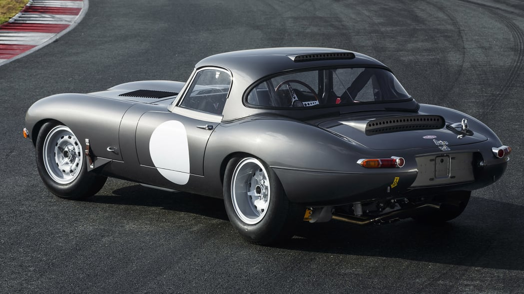 Jaguar Continuation Lightweight E-Type rear 3/4 view