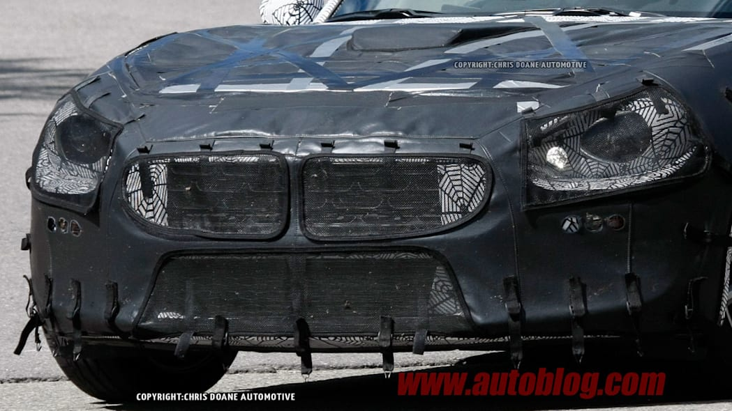 camouflaged fiat 124 spy shots front detail