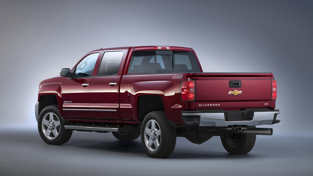2015 Chevrolet Silverado 2500 HD LTZ rear 3/4 studio