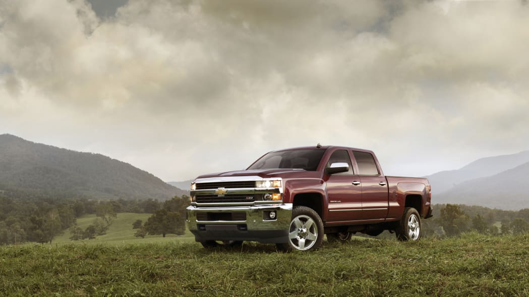 2015 Chevrolet Silverado 2500 HD LTZ crew cab pickup outdoors field