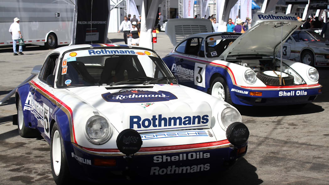 Two examples of the 1984 Porsche 911 SCRS.