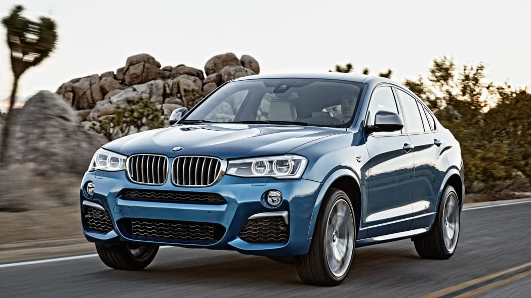 BMW X4 M40i front 3/4 driving