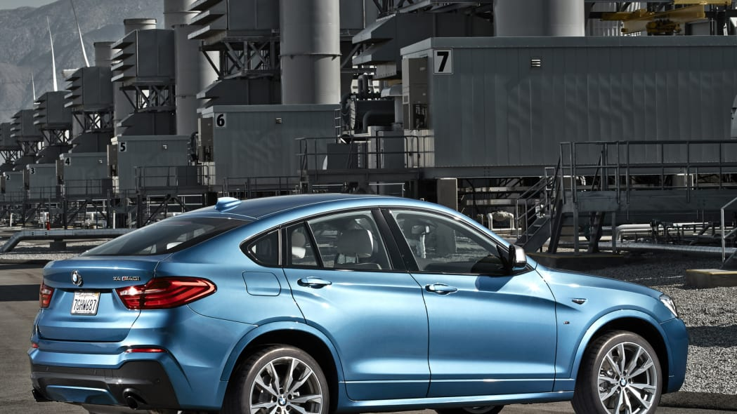 BMW X4 M40i rear 3/4 industrial parked