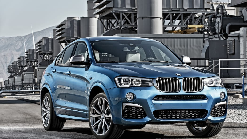 BMW X4 M40i front 3/4 industrial static parked