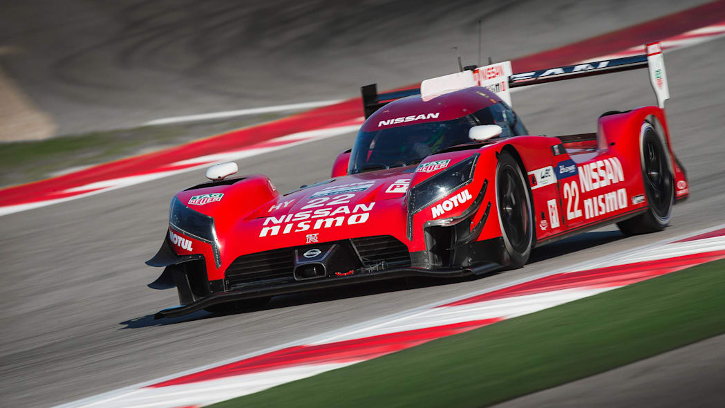 Nissan GT-R LM Nismo testing front 3/4