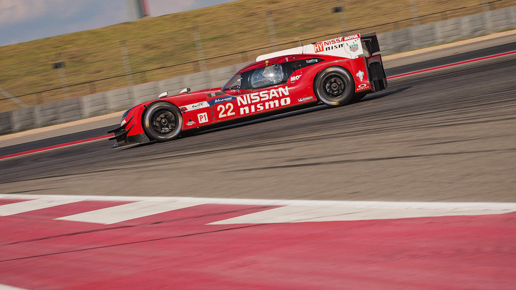 Nissan GT-R LM Nismo Circuit of the Americas track testing profile