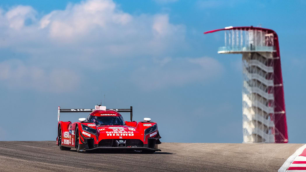 Nissan GT-R LM Nismo track COTA front 3/4
