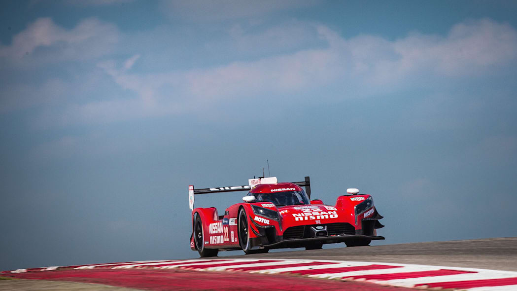 Nissan GT-R LM Nismo track Texas front 3/4