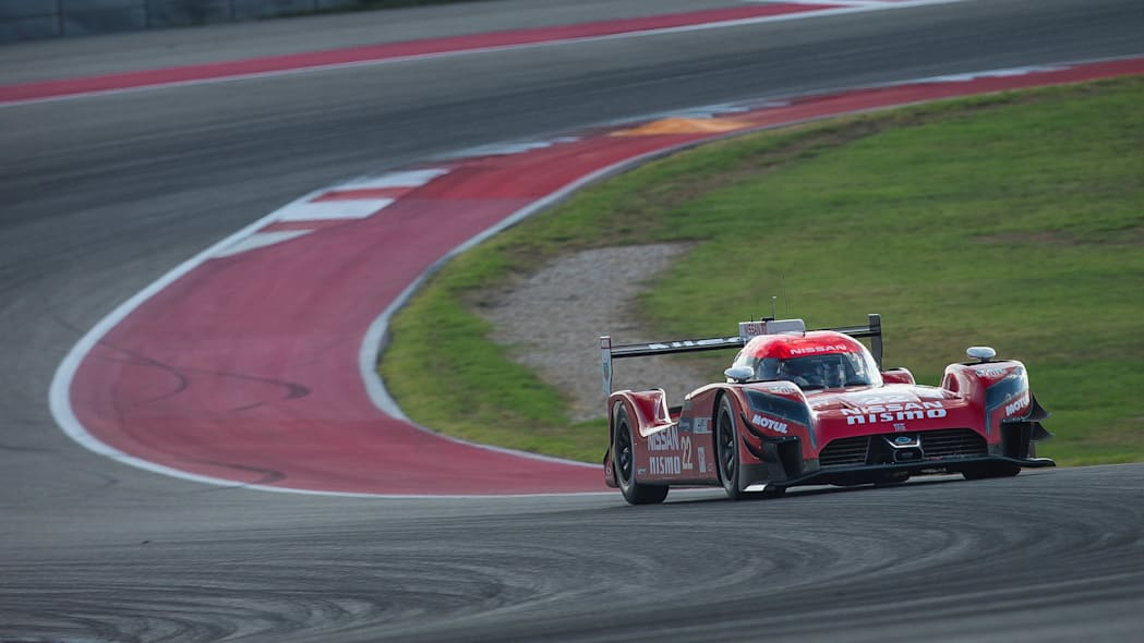 Nissan GT-R LM Nismo testing Texas front 3/4