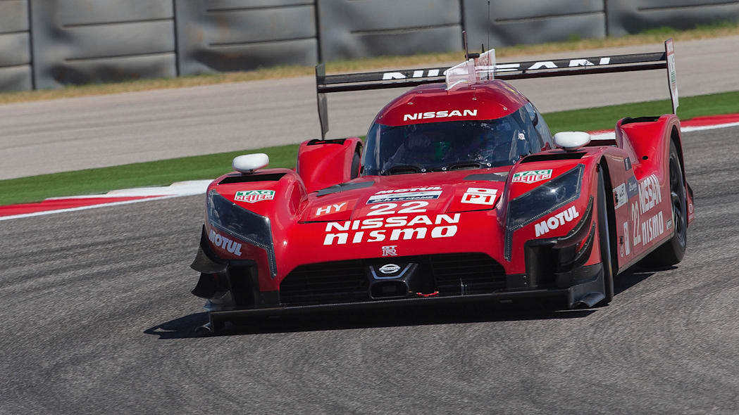 Nissan GT-R LM Nismo testing COTA front 3/4