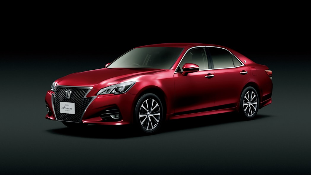 Toyota Crown front 3/4 red