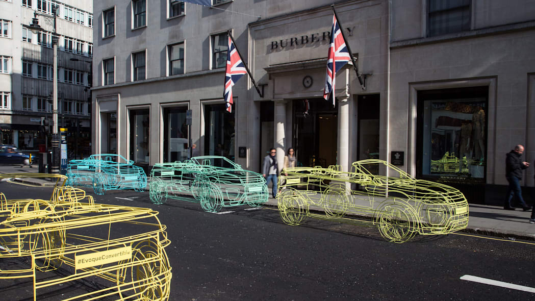 land rover range rover evoque convertible wireframes at burberry