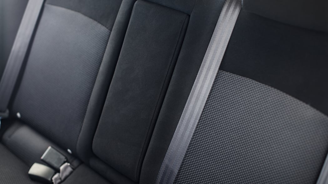 The 2015 Mitsubishi Lancer Evolution Final Edition, rear seats.