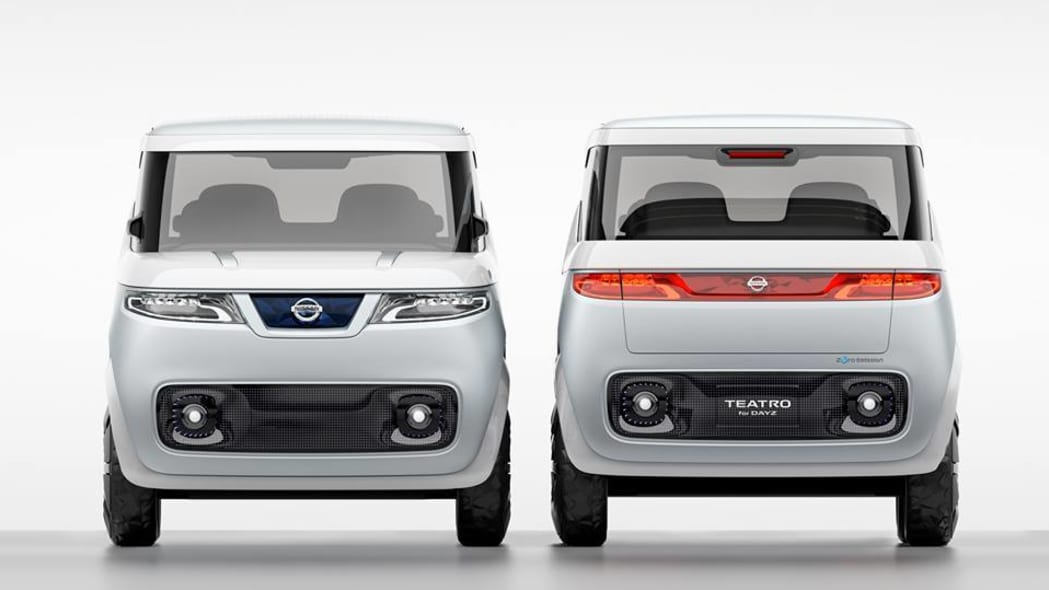 nissan teatro for days front and rear