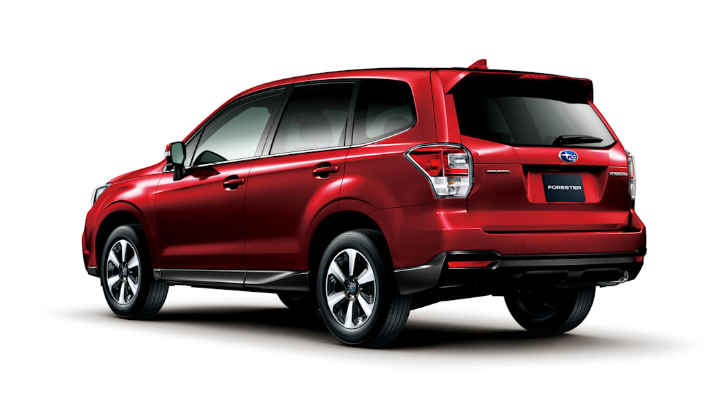 2016 Subaru Forester red rear 3/4