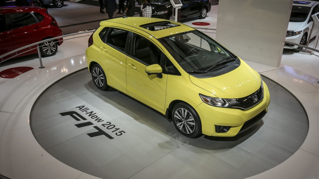 2015 Honda Fit in yellow