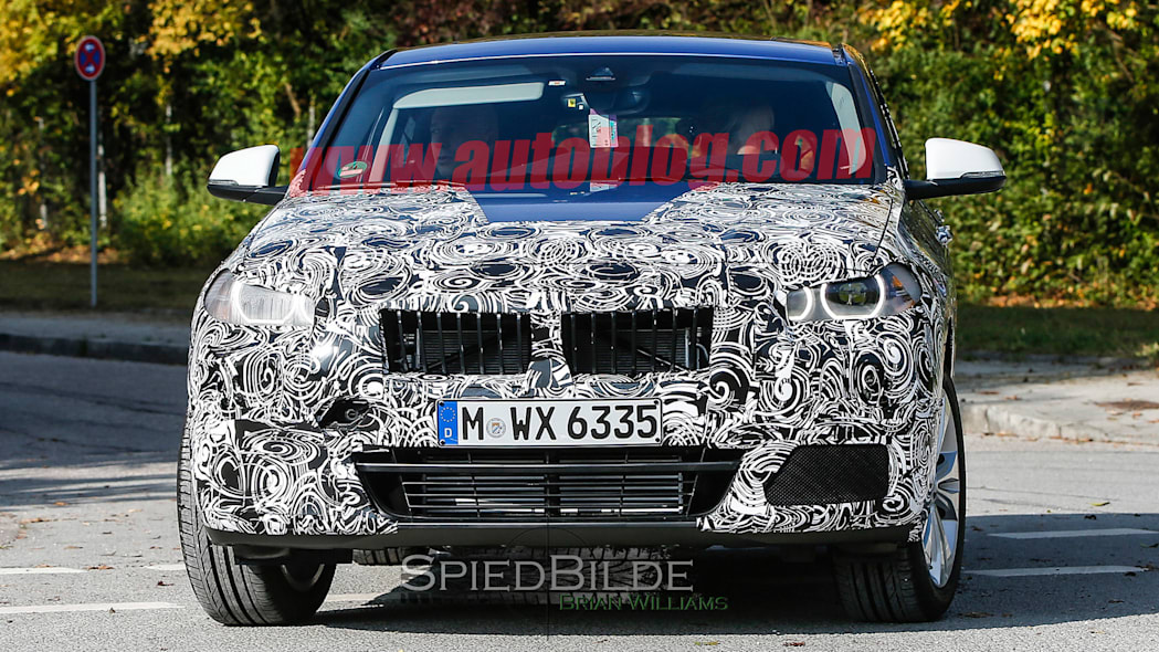 x2 spy shots bmw crossover front camo