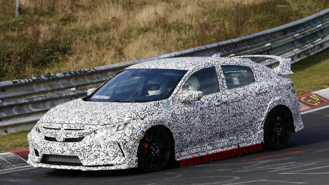 2017 Honda Civic Type R Nurburgring front 3/4
