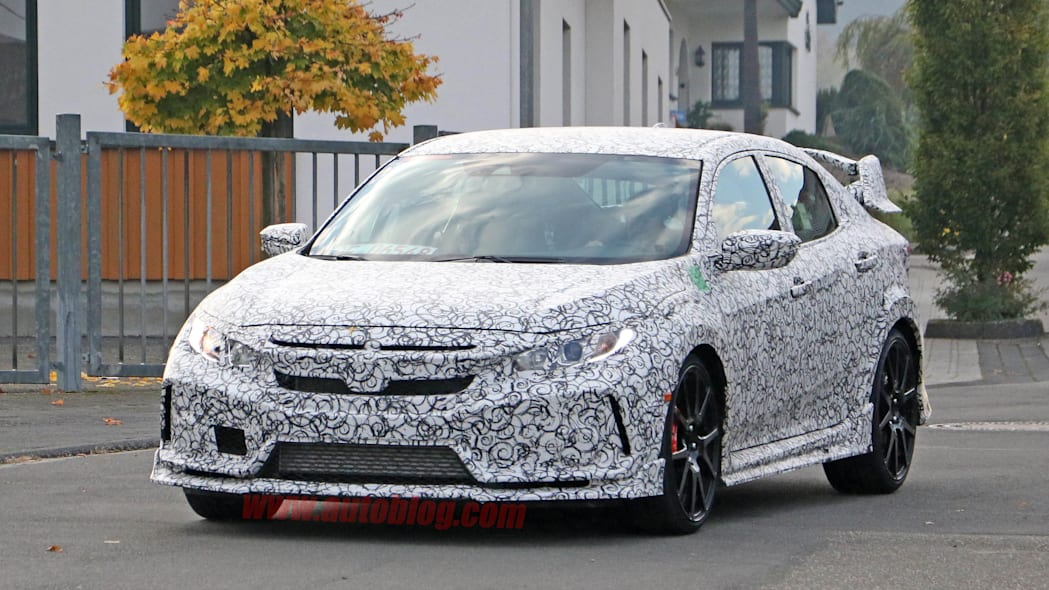 2017 Honda Civic Type R prototype front 3/4