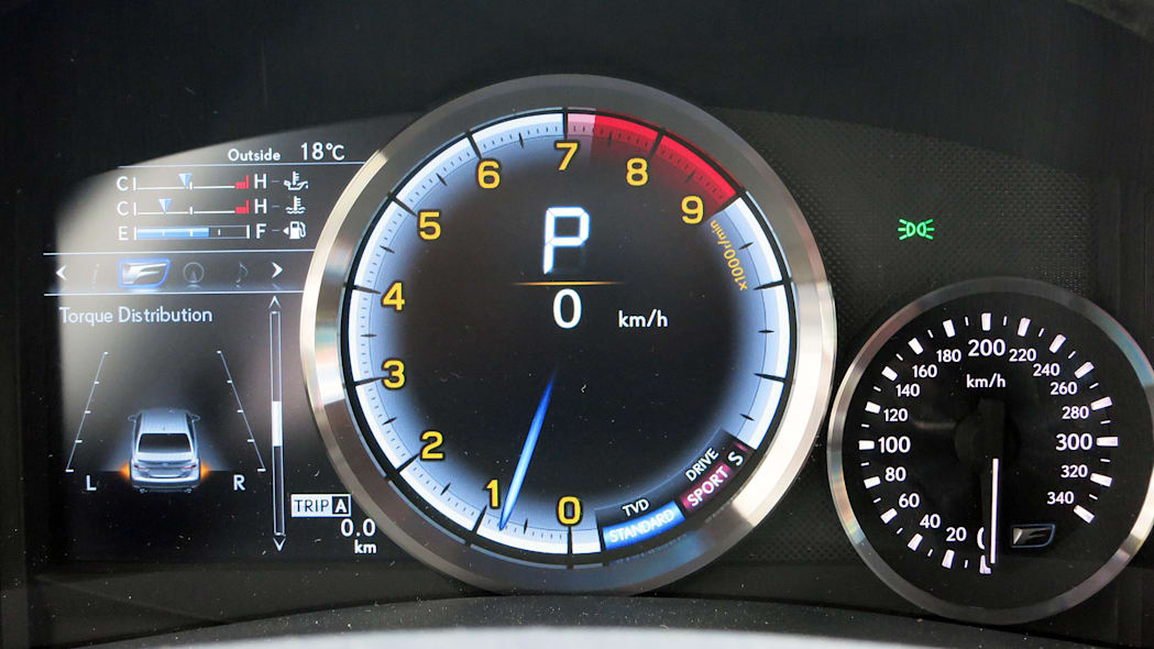 2016 Lexus GS F gauges