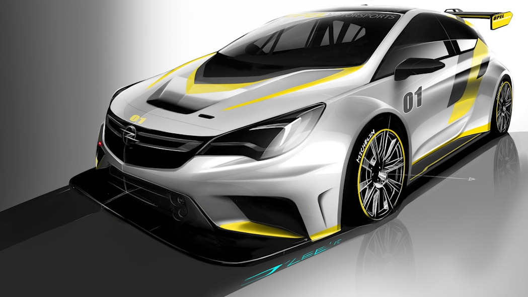 Opel Astra TCR rendering
