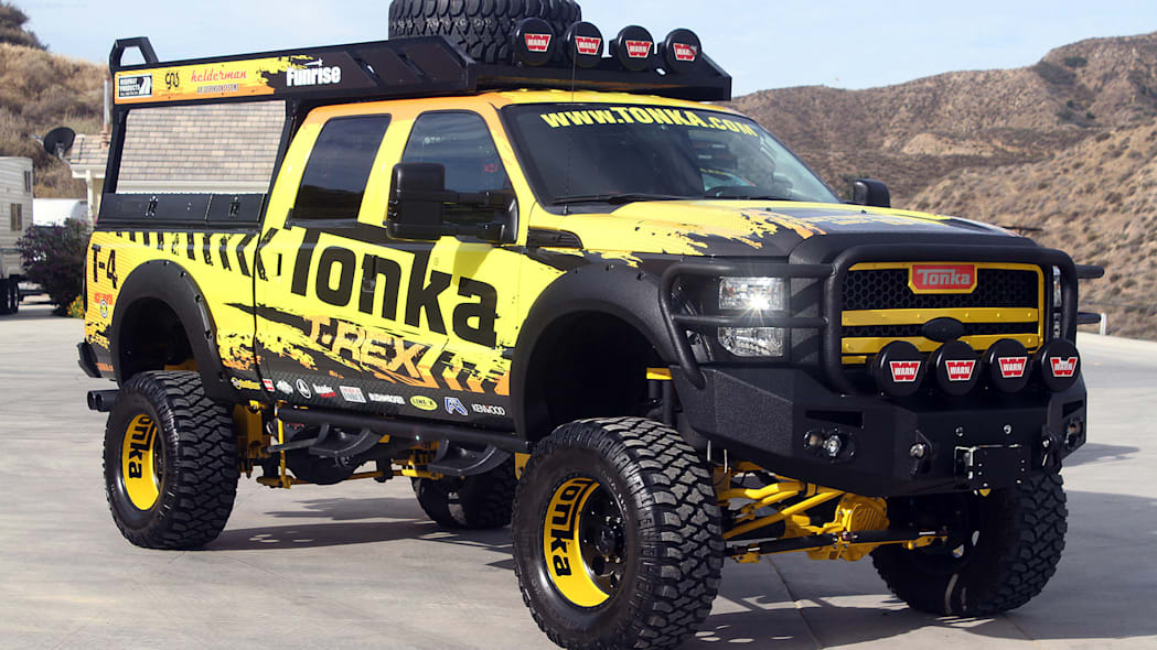 Tonka T-Rex front 3/4 view