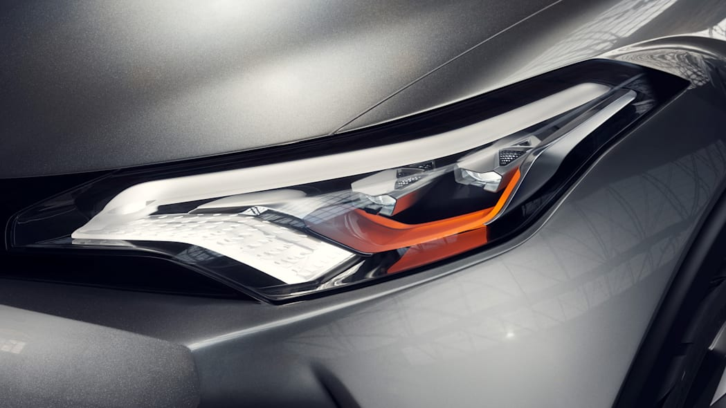toyota c-hr headlights detail