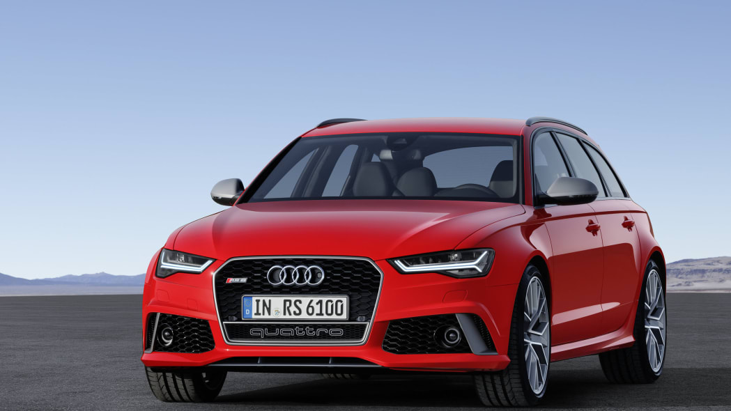 red audi rs6 avant performance front