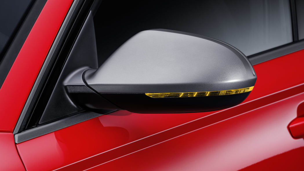 red audi rs6 avant performance mirrors