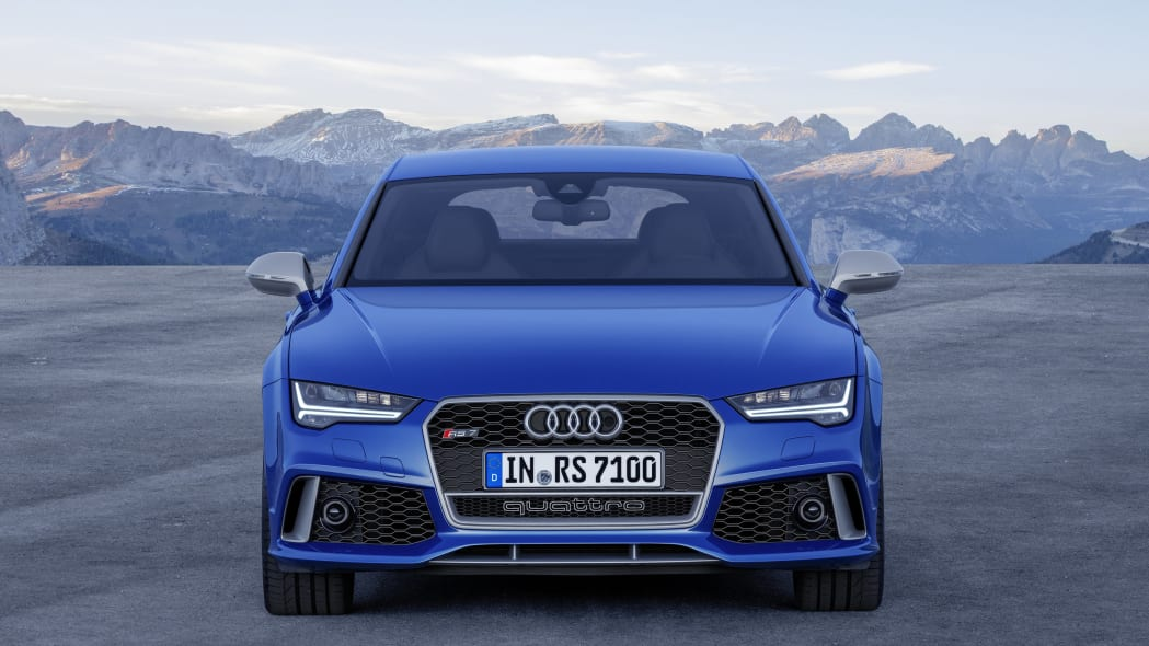blue audi rs7 sportback performance front