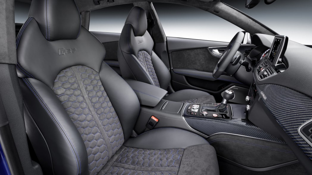audi rs7 sportback performance interior side