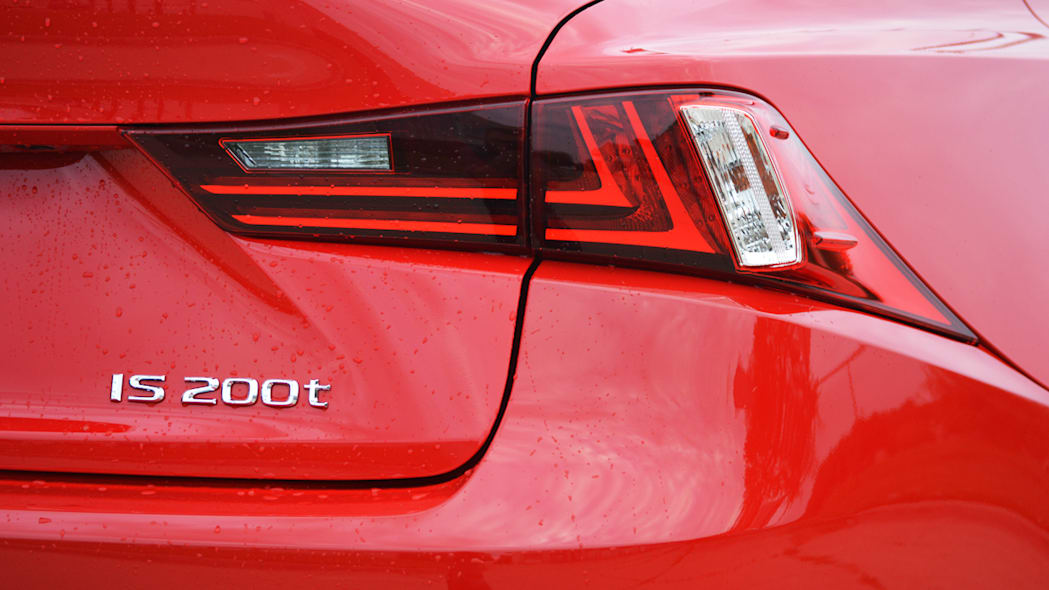 Lexus is 200t red taillight badge