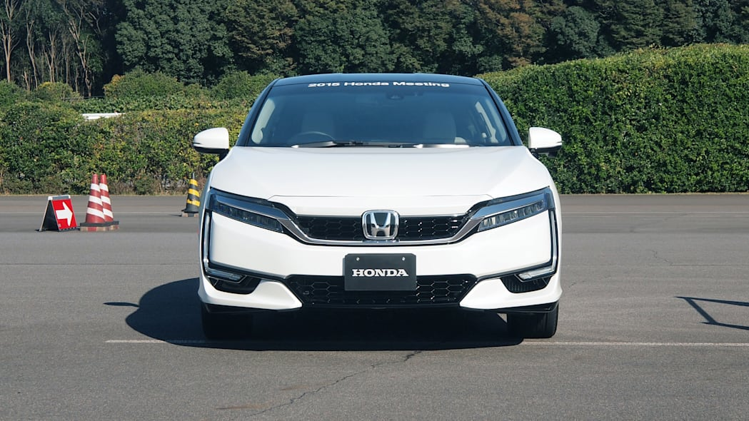 Honda FCEV hydrogen fuel cell electric vehicle front fascia