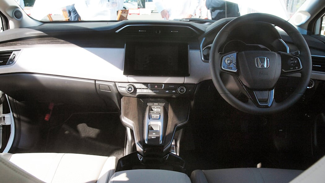Honda FCEV hydrogen fuel cell electric vehicle interior
