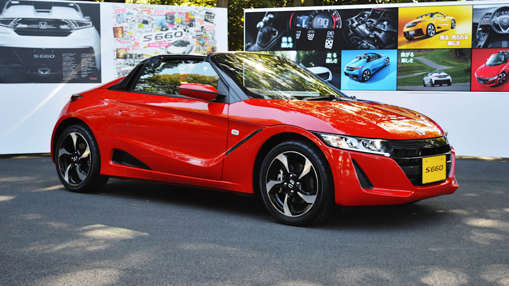 honda s660 red front
