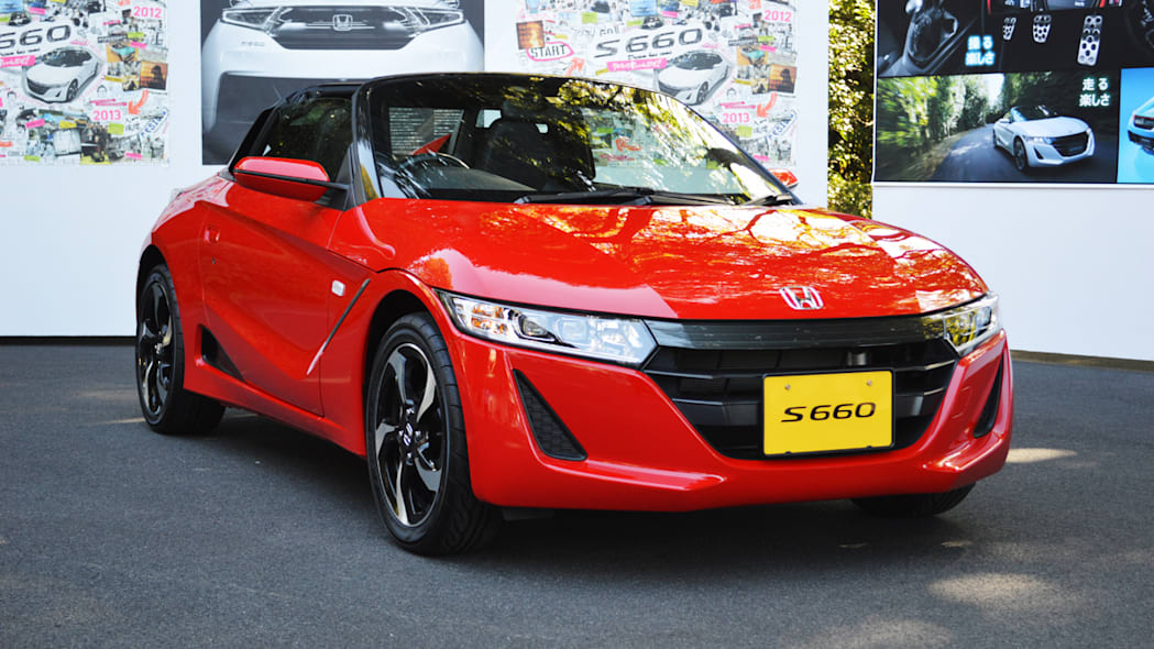 honda s660 red front tight