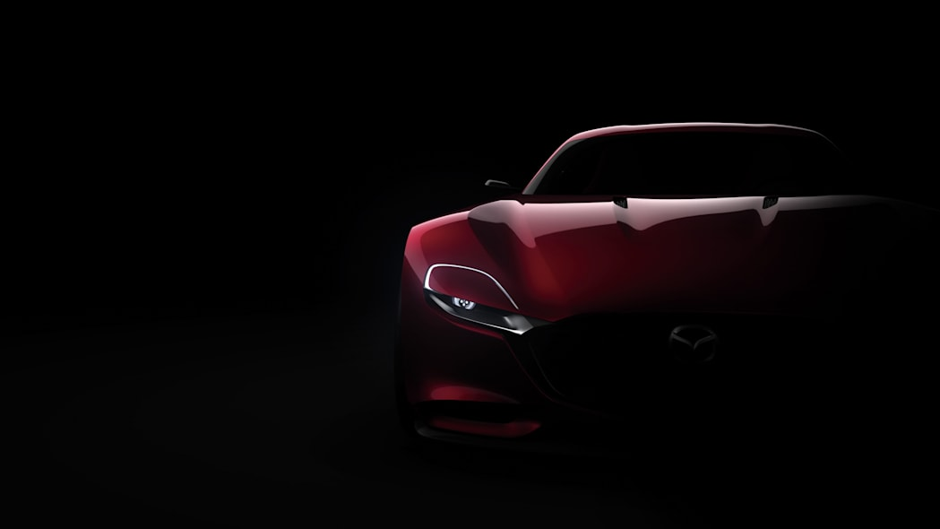 red mazda rx-vision concept front detail
